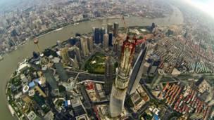 दुनिया की दूसरी सबसे ऊँची इमारत शंघाई टावर