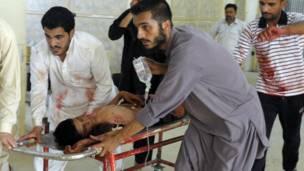 حملے میں زخمی ہونے والا ایک شخض ہسپتال میں