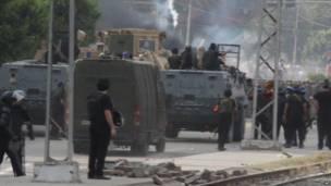 Бронетехника на улицах Каира