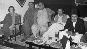 ایم آر ڈی کی تحریک کے اعلان کے موقع پر سیاسی رہنما