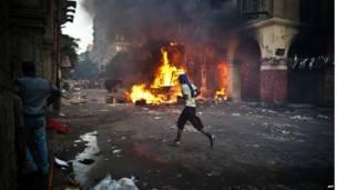 Mısır başkenti Kahire'deki Ramses Meydanı'nda çatışmalar