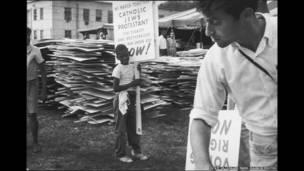 Washington DC, 28 de agosto de 1963. Foto: The March on Washington. Estate of Leonard Freed/Magnum Photos