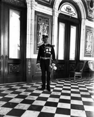 Porfirio Díaz en el Castillo de Chapultepec