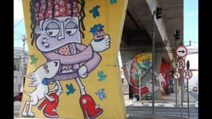 Grafites: Chivitz (primeiro) e Binho Ribeiro (segundo)/Foto: Flavia Nogueira