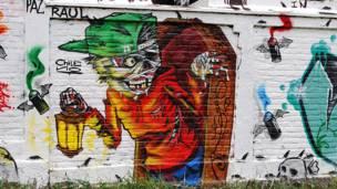 Grafite: Chileno/Foto: Flavia Nogueira