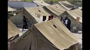 Campamento de refugiados en Líbano