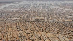 Imagen aérea del campamento de refugiados Zaatari