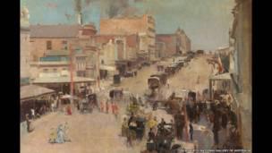 Tom Roberts  Allegro con brio: Bourke Street west c.1885-86 National Gallery de Australia, Camberra.