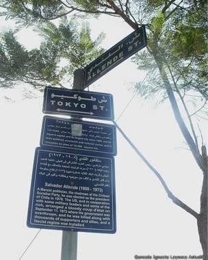 Cartel con información sobre Salvador Allende. Foto: cortesía Gonzalo Ignacio Layseca Astudillo