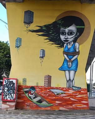 Grafite: Tinho/Foto: Flavia Nogueira