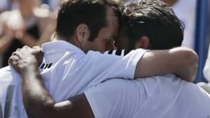 राडेक स्टेपानेक और लिएंडर पेस, यूए ओपन टेनिस 2013
