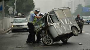 चीन, रिक्शा, पुलिस