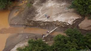 Оползень в Мексике