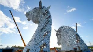 घोड़ों की आकृति, स्कॉटलैंड, फ़ॉलकिर्क, हेलिक्स, केल्पीज़