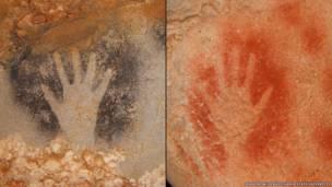 Cientistas americano analisou moldes de mãos para diferenciar homens de mulheres