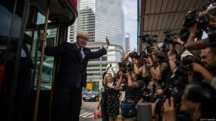 图辑:伦敦市长约翰逊访问香港