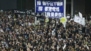 香港电视员工与市民在政府总部集会(20/10/2013)