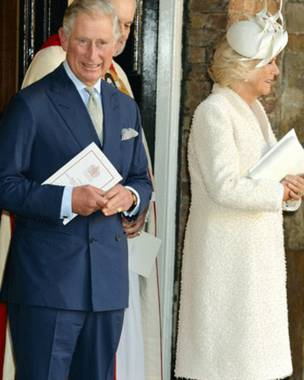 El príncipe Carlos y su esposa Camilla.