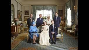 乔治王子洗礼正式照片