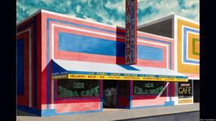 "Emilio Sanchez (Camaguey, Cuba, 1921) Untitled. Bronx Storefront ""La Rumba Supermarket"". Late 1980s. Copyright Emilio Sanchez Foundation"
