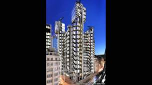 بناية لويدس، مدينة لندن، 1981، ريتشارد روجر وشركاه