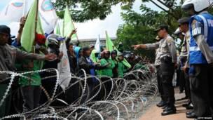 इंडोनेशिया में हड़ताल