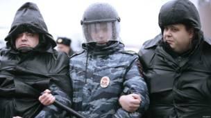 Полиция была готова к демонстрантам