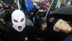 Ультра-националисты выкрикивали лозунги