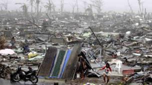 Nơi trú ẩn tạm ở Tacloban