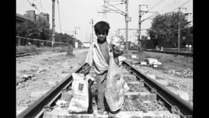 Старьевщик на вокзале Нью-Дели