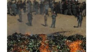 शराब और ड्रग्स का जलता भंडार, काबुल, अफ़ग़ानिस्तान