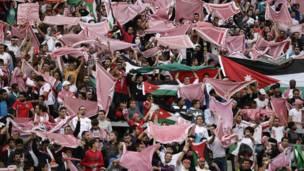Mantas jordanas en las tribunas