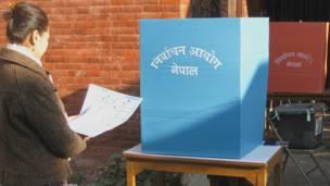 काठमाण्डूकी एक महिला मतदाता