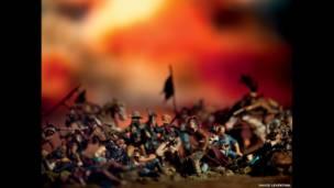 """صورة مسماة """"اخر معركة لكاستر"""" منم سلسلة اعمال """"الغرب المتوحش"""""""""""