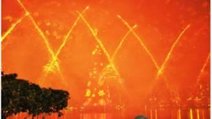 "Confira as imagens feitas pelos leitores da BBC Brasil sobre o tema ""fogos de artifício"". Foto: Pércio Augusto Mardini Farias"