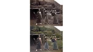 Jordan Lloyd trabalha camada por camada para obter efeito realista em imagens do início do século passado.