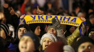 Manifestantes proeuropeos en Kiev