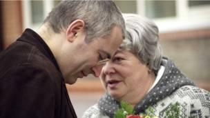 Михаил Ходорковский с матерью