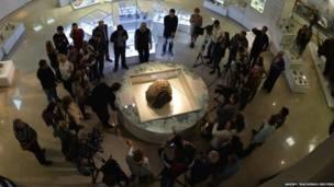 Meteorito en un museo de Chelyabinsk. Andrey Tkachenko/Reuters