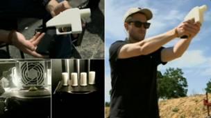 दुनिया की पहली थ्री डी बंदूक से फ़ायरिंग
