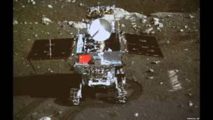 Imagen del explorador chino en la Luna. Xinhua/AP