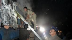 ट्रेन में लगी आग,  बैंगलोर-नांदेड़ एक्सप्रेस