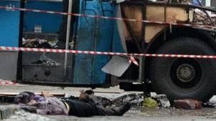 Тело погибшего при взрыве троллейбуса в Волгограде