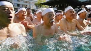जापान, पवित्र स्नान, टेपोज़ू इनारी तीर्थस्थल,