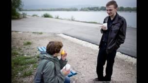 Константин Голава с Татьяной, коллегой-активистом