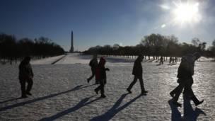Visitantes en Washington DC