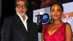 अमिताभ बच्चन और दक्षिण अफ़्रीकी अभिनेत्री टेरी फेटो