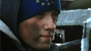 الاحتجاجات وسط كييف