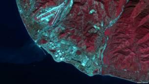 Сочи. Фото: NASA/Landsat