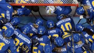 Шведские хоккеистки
